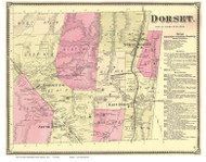 Dorset, Vermont 1869 Old Town Map Reprint - Bennington Co.