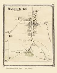 Manchester Village, Vermont 1869 Old Town Map Reprint - Bennington Co.