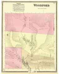 Woodford, Vermont 1869 Old Town Map Reprint - Bennington Co.