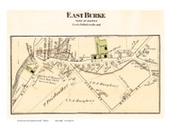 East Burke Village, Vermont 1875 Old Town Map Reprint - Caledonia Co.