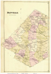 Danville, Vermont 1875 Old Town Map Reprint - Caledonia Co.