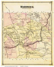 Hardwick, Vermont 1875 Old Town Map Reprint - Caledonia Co.