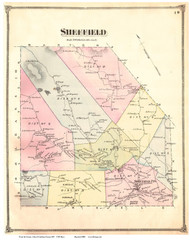 Sheffield, Vermont 1875 Old Town Map Reprint - Caledonia Co.