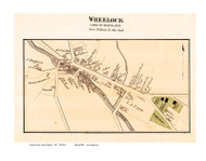 Wheelock Village, Vermont 1875 Old Town Map Reprint - Caledonia Co.