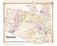 Wheelock, Vermont 1875 Old Town Map Reprint - Caledonia Co.