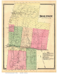 Bolton, Vermont 1869 Old Town Map Reprint - Chittenden Co.