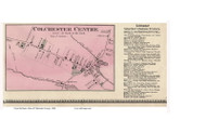 Colchester Centre Village, Vermont 1869 Old Town Map Reprint - Chittenden Co.