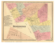 Huntington, Vermont 1869 Old Town Map Reprint - Chittenden Co.