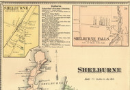 Shelburne and Shelburne Falls Villages, Vermont 1869 Old Town Map Reprint - Chittenden Co.