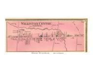 Williston Centre Village, Vermont 1869 Old Town Map Reprint - Chittenden Co.