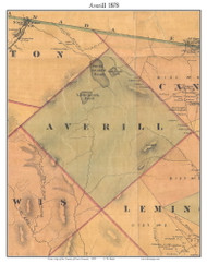 Averill, Vermont 1878 Old Town Map Custom Print - Essex Co.