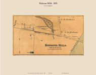 Hobson's Mills - Brighton, Vermont 1878 Old Town Map Custom Print - Essex Co.