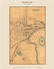 Island Pond - Brighton, Vermont 1878 Old Town Map Custom Print - Essex Co.