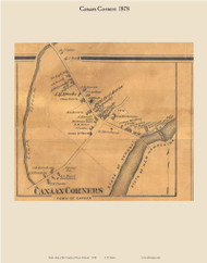 Canaan Corners, Vermont 1878 Old Town Map Custom Print - Essex Co.
