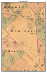 Ferdinand, Vermont 1878 Old Town Map Custom Print - Essex Co.