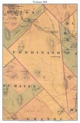 Ferdinand, Vermont 1878 Old Town Map Custom Print - Essex Co.