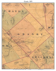 Granby, Vermont 1878 Old Town Map Custom Print - Essex Co.