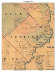 Lemington, Vermont 1878 Old Town Map Custom Print - Essex Co.