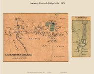 Lunenburg Corners & Sildsbys Mills, Vermont 1878 Old Town Map Custom Print - Essex Co.