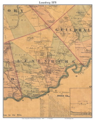 Lunenburg, Vermont 1878 Old Town Map Custom Print - Essex Co.