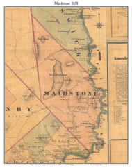 Maidstone, Vermont 1878 Old Town Map Custom Print - Essex Co.