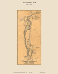 Norton Mills, Vermont 1878 Old Town Map Custom Print - Essex Co.