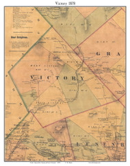Victory, Vermont 1878 Old Town Map Custom Print - Essex Co.
