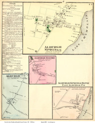 Alburgh, Alburgh Springs, Alburgh Centre, and East Alburgh Villages, Vermont 1871 Old Town Map Reprint - Grand Isle Co.