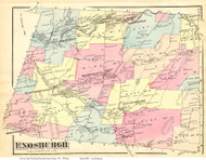Enosburgh, Vermont 1871 Old Town Map Reprint - Franklin Co.