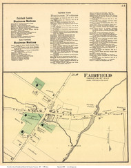 Fairfield Village, Vermont 1871 Old Town Map Reprint - Franklin Co.