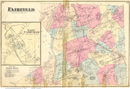 Fairfield Town and East Fairfield Village, Vermont 1871 Old Town Map Reprint - Franklin Co.