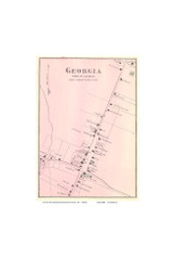Georgia Village, Vermont 1871 Old Town Map Reprint - Franklin Co.
