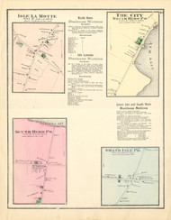 Isle La Motte, South Hero, North Hero, and Grand Isle Villages, Vermont 1871 Old Town Map Reprint - Grand Isle Co.