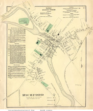 Richford Village, Vermont 1871 Old Town Map Reprint - Franklin Co.