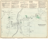 Sheldon Village, Vermont 1871 Old Town Map Reprint - Franklin Co.