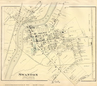 Swanton Village, Vermont 1871 Old Town Map Reprint - Franklin Co.