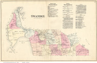 Swanton, Vermont 1871 Old Town Map Reprint - Franklin Co.