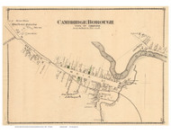 Cambridge Borough Village, Vermont 1878 Old Town Map Reprint - Lamoille Co.