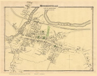 Morrisville Village, Vermont 1878 Old Town Map Reprint - Lamoille Co.