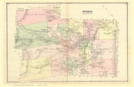 Stowe, Vermont 1878 Old Town Map Reprint - Lamoille Co.