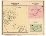 West Albany, Albany Center, and South Albany Villages, Vermont 1878 Old Town Map Reprint - Orleans Co.