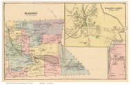 Barton Town, Barton Landing and Westmore Villages, Vermont 1878 Old Town Map Reprint - Orleans Co.