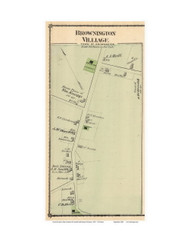 Brownington Village, Vermont 1878 Old Town Map Reprint - Orleans Co.