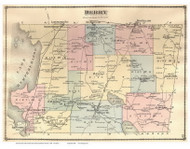 Derby, Vermont 1878 Old Town Map Reprint - Orleans Co.