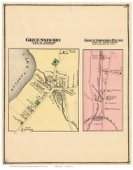 Greensboro and Greensboro Bend Villages, Vermont 1878 Old Town Map Reprint - Orleans Co.