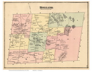 Holland, Vermont 1878 Old Town Map Reprint - Orleans Co.