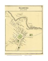 Irasburg Village, Vermont 1878 Old Town Map Reprint - Orleans Co.