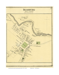 Irasburg Village, Vermont 1878 Old Town Map Reprint - Orleans Co.