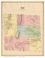 Jay, Vermont 1878 Old Town Map Reprint - Orleans Co.