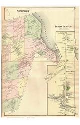 Newport Town, Derby Center Village, Vermont 1878 Old Town Map Reprint - Orleans Co.